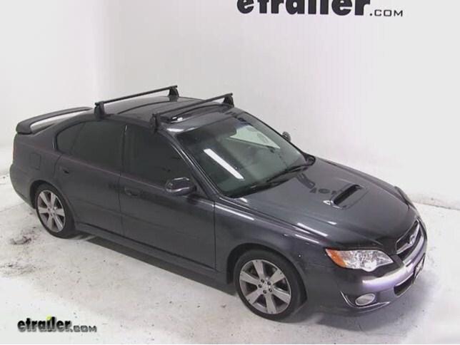 Yakima Q Tower Roof Rack Installation 2008 Subaru Legacy Video