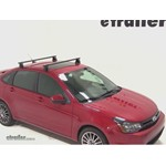 Yakima Q Tower Roof Rack Installation - 2011 Ford Focus