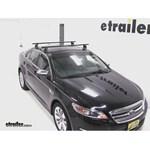 Yakima Q Tower Roof Rack Installation   2012 Ford Taurus Video |  Etrailer.com