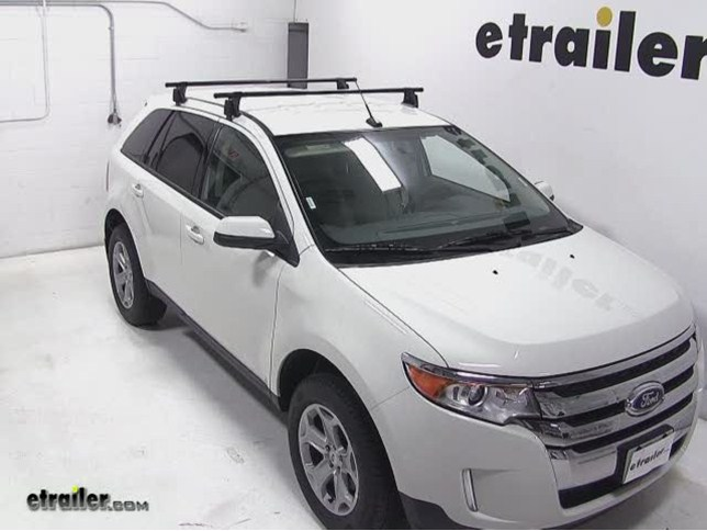 Yakima Q Tower Roof Rack Installation  Ford Edge Video Etrailer Com