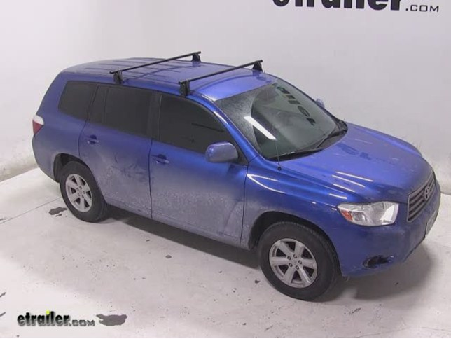 Yakima Q Tower Roof Rack Installation 2008 Toyota Highlander Etrailer Com