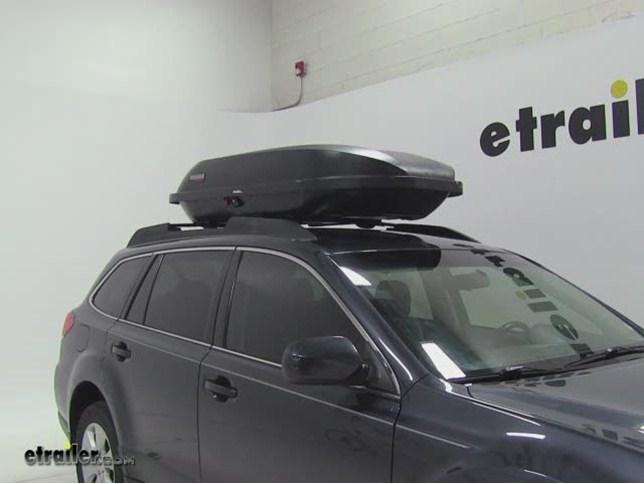 Yakima RocketBox Pro 14 Rooftop Cargo Box Review   2011 Subaru Outback Wagon