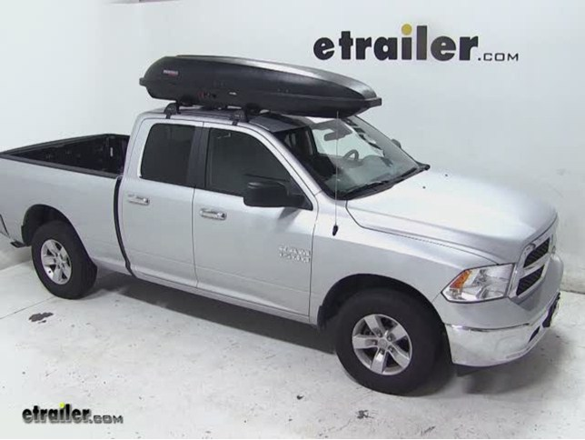Yakima RocketBox Pro 11 Rooftop Cargo Box Review   2013 Dodge Ram Pickup  Video | Etrailer.com