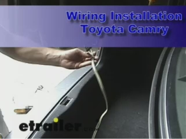 toyota camry wiring harness image wiring trailer wiring harness installation 1998 toyota camry video on 1998 toyota camry wiring harness