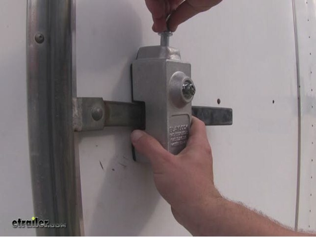 Blaylock Door Lock For Enclosed Trailers Aluminum Push