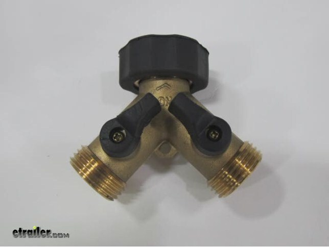 Camco Garden Hose Y Style Brass Shut Off Valve Review Video