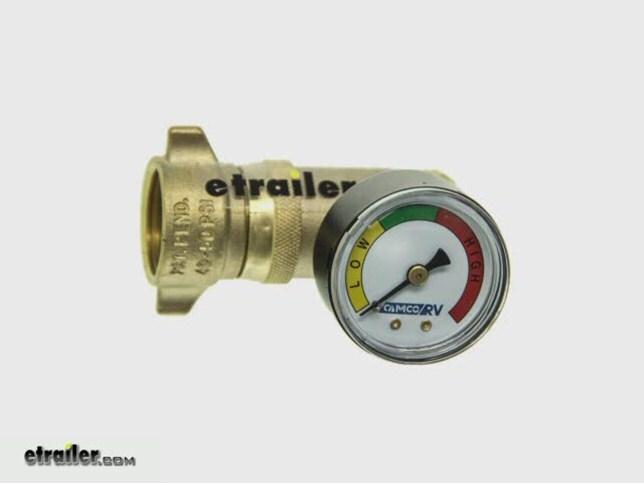 camco rv water pressure regulator w gauge brass camco. Black Bedroom Furniture Sets. Home Design Ideas