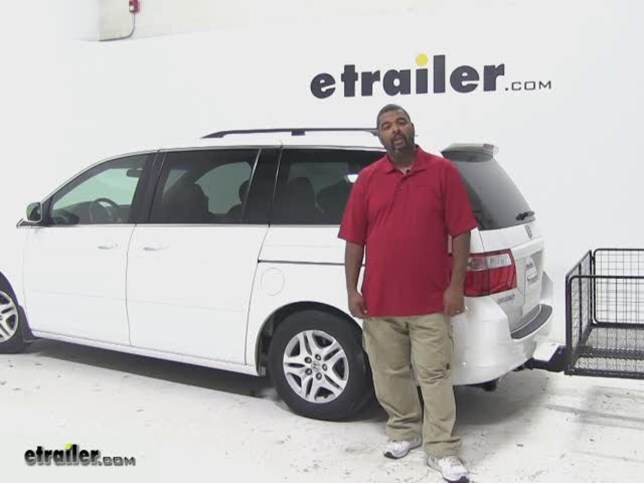 Carpod Hitch Cargo Carrier Review   2007 Honda Odyssey Video | Etrailer.com