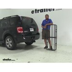 Curt 17x46 Hitch Cargo Carrier Review - 2008 Ford Escape
