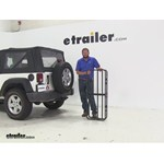 Curt 17x46 Hitch Cargo Carrier Review - 2009 Jeep Wrangler
