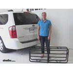 Curt 17x46 Hitch Cargo Carrier Review - 2009 Kia Sedona