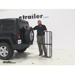 Curt 17x46 Hitch Cargo Carrier Review - 2014 Jeep Wrangler Unlimited