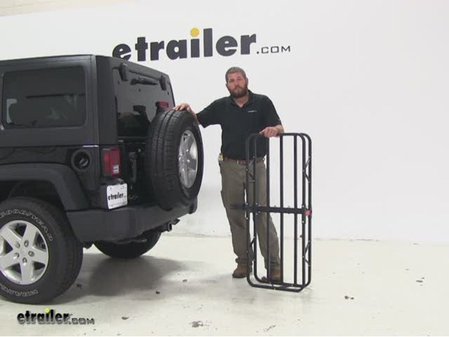 Curt 17x46 Hitch Cargo Carrier Review   2014 Jeep Wrangler Unlimited Video  | Etrailer.com