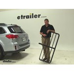 Curt 17x46 Hitch Cargo Carrier Review - 2014 Subaru Outback Wagon
