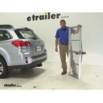 Curt 19x60 Hitch Cargo Carrier Review - 2013 Subaru Outback Wagon