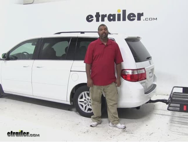 Curt 24x60 Hitch Cargo Carrier Review   2007 Honda Odyssey Video |  Etrailer.com