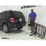 Curt 24x60 Hitch Cargo Carrier Review - 2008 Ford Escape
