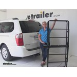 Curt 24x60 Hitch Cargo Carrier Review - 2009 Kia Sedona