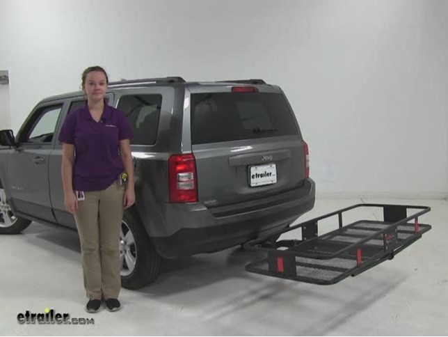 Curt 24x60 Hitch Cargo Carrier Review   2012 Jeep Patriot Video |  Etrailer.com