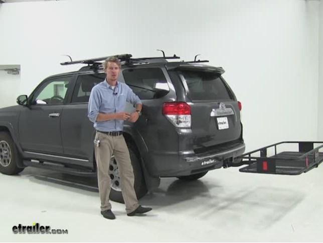 Curt 24x60 Hitch Cargo Carrier Review   2012 Toyota 4Runner Video |  Etrailer.com