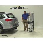 Curt 24x60 Hitch Cargo Carrier Review - 2013 Subaru Outback Wagon