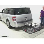 Curt 24x60 Hitch Cargo Carrier Review - 2014 Ford Flex