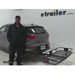 Curt 24x60 Hitch Cargo Carrier Review - 2014 Kia Sportage