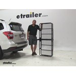 Curt 24x60 Hitch Cargo Carrier Review - 2015 Subaru Forester