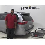 Curt 24x60 Hitch Cargo Carrier Review - 2015 Toyota Sienna