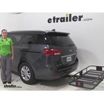 Curt 24x60 Hitch Cargo Carrier Review - 2016 Kia Sedona