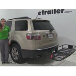 Curt  Hitch Cargo Carrier Review - 2008 GMC Acadia
