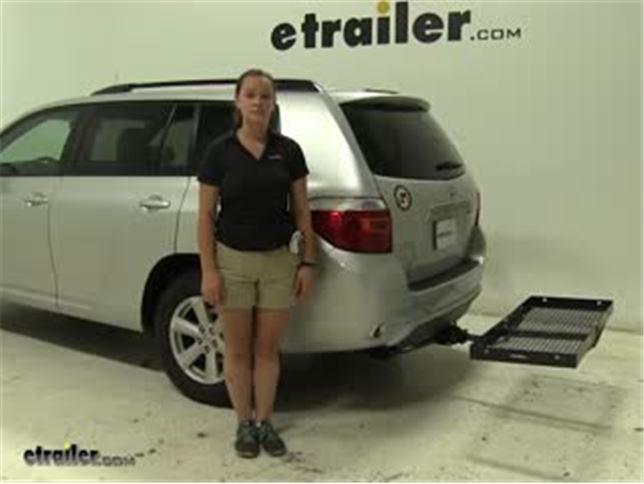 Curt Hitch Cargo Carrier Review   2010 Toyota Highlander Video |  Etrailer.com