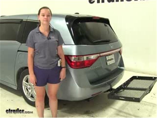 Curt Hitch Cargo Carrier Review   2011 Honda Odyssey Video | Etrailer.com