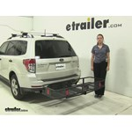 Curt  Hitch Cargo Carrier Review - 2012 Subaru Forester