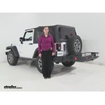 Curt  Hitch Cargo Carrier Review - 2014 Jeep Wrangler