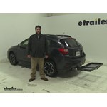 Curt  Hitch Cargo Carrier Review - 2014 Subaru XV Crosstrek