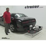 Curt  Hitch Cargo Carrier Review - 2015 Dodge Challenger