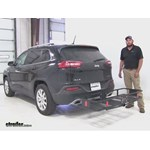 Curt  Hitch Cargo Carrier Review - 2015 Jeep Cherokee