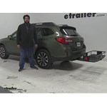 Curt  Hitch Cargo Carrier Review - 2015 Subaru Outback Wagon