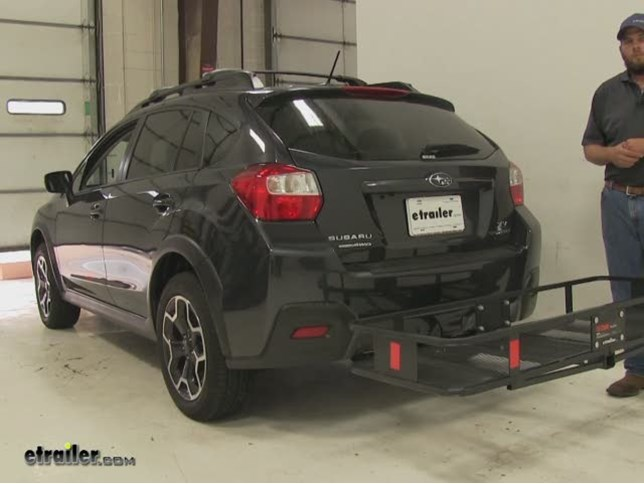 Curt Hitch Cargo Carrier Review 2017 Subaru Xv Crosstrek Video Etrailer