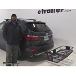 Curt  Hitch Cargo Carrier Review - 2016 Hyundai Santa Fe
