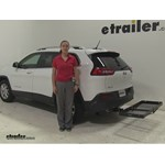 Curt  Hitch Cargo Carrier Review - 2016 Jeep Cherokee