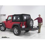 Curt  Hitch Cargo Carrier Review - 2016 Jeep Wrangler