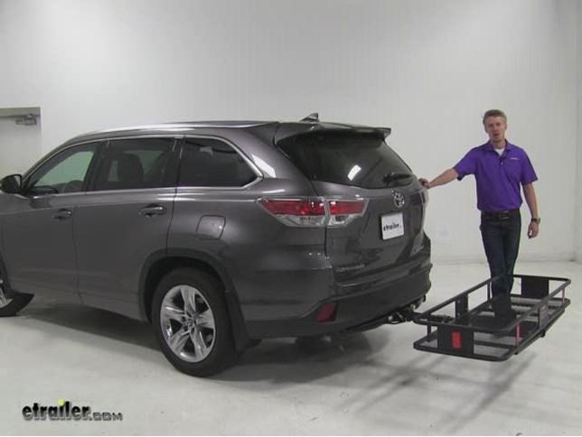 Curt Hitch Cargo Carrier Review 2016 Toyota Highlander Video Etrailer