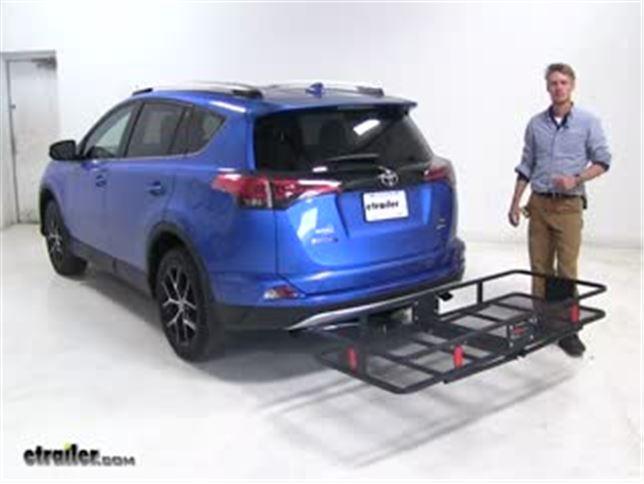 Curt Hitch Cargo Carrier Review 2016 Toyota Rav4 Video Etrailer Com