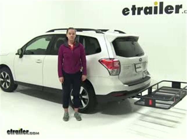Curt Hitch Cargo Carrier Review 2017 Subaru Forester Video Etrailer