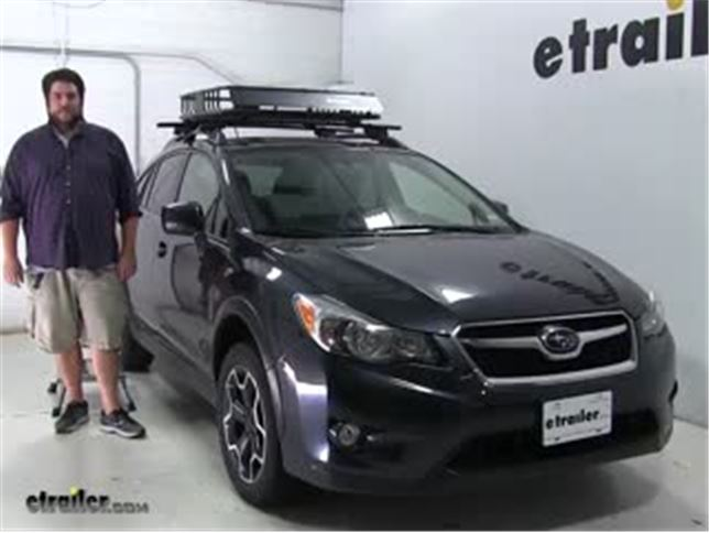 Subaru Roof Basket >> Curt Roof Basket Review 2014 Subaru Xv Crosstrek Video Etrailer Com