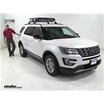 """2016 Ford Explorer Towing Capacity >> Curt Roof Mounted Cargo Basket - 41-1/2"""" Long x 37"""" Wide x 4"""" Deep - 150 lbs Curt Roof Basket C18115"""