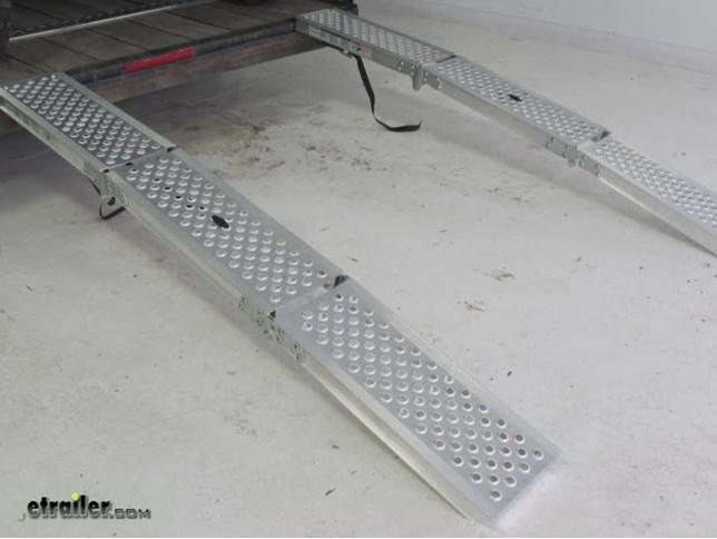 Erickson Arched Loading Ramp Set Tri Fold Aluminum