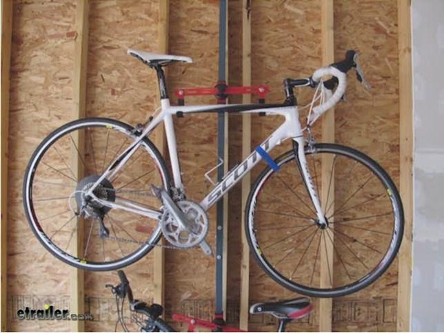 Ceiling Bike Rack >> Gear Up Floor To Ceiling Bike Storage Rack Review Video Etrailer Com